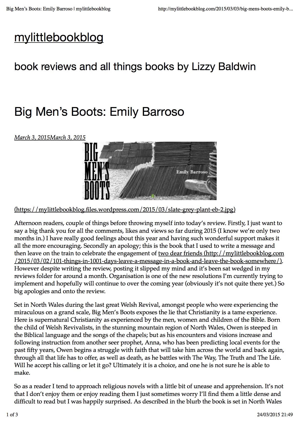 Big Men's Boots - Emily Barroso - mylittlebookblog 1